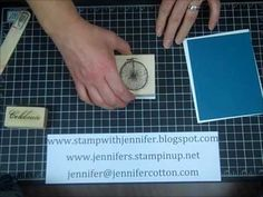 Stampin' Up! Tutorial and more. how to cut card stock for card making  Good one and good card too! :)