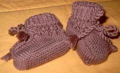 Babyschuhe stricken mit Anleitung (Freizeit, Handarbeiten, Hobby)