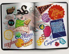 Sticker Typography on Behance
