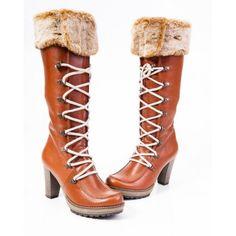 Dámske čižmy z prírodnej kože hnedé na opätku - manozo. Ankle, Boots, Fashion, Crotch Boots, Moda, Wall Plug, Fashion Styles, Shoe Boot, Fashion Illustrations