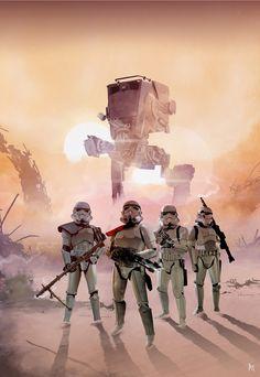 Imperial Bad Boys (Star Wars Fan Art), Jose Angel Trancón Fernández on ArtStation at https://www.artstation.com/artwork/Reo1r