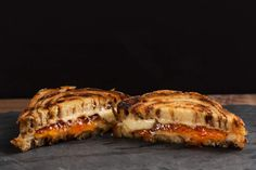 So much better than a plain cinnamon bun. Cinnamon bun Grilled Cheese with hot pepper jelly