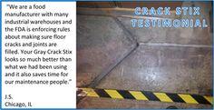 Food Distributor using Gray Crack Stix to comply with FDA regulations Food Distributors, Tile Floor, Concrete, Flooring, Gray, Grey, Tile Flooring, Wood Flooring, Floor