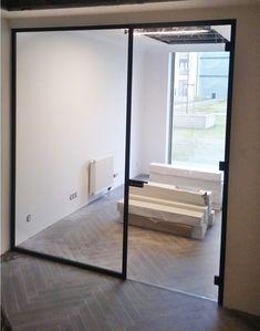 Drzwi Loftowe - Industrialne | Drzwi wewnętrzne - zabudowy szklane - drzwi loft - podłogi Door Mirrors, Diy Home Crafts, Loft, Doors, Nice, Bed, Furniture, Home Decor, Houses