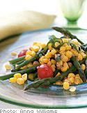 "Farm Stand Corn Salad  ""  Recipe created by Rori Trovato  Sweet fresh corn, right off the cob, makes a fabulous base for a refreshing summer salad."""