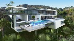 Two Modern Mansions on Sunset Plaza Drive in LA (2)