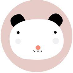 Haciendo el Indio houten paneel panda 30 cm