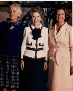 Barbara Bush, Nancy Reagan, and Norma Lagomarsino