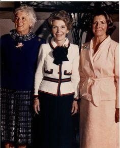 Barbara Bush, Nancy Reagan, and Norma Lagomarsino