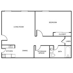 700 sq ft apartment floor plan 1 bedroom 35 x 20 - Google Search ...