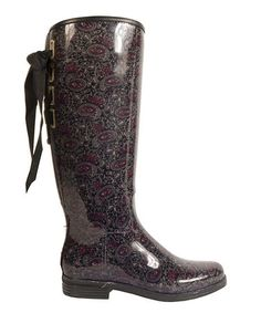 Take a look at this Paisley Slate Victoria Rain Boot by däv on #zulily today!