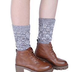 Muxika Women Keep Warm Hollow Out Retro Knitting Stocking Leg Cover Trim Socks ** Quickly view this special  product, click the image : Fashion for Christmas