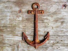 Nautical Theme Decor  Rusty Anchor For Your Beach by Idugitup, $13.50