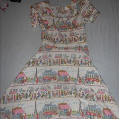 Bernie Dexter Paris Cafe Dress Gorgeous dress. Never worn! Sweet tie neck, slightly flared skirt and puffed sleeves. Bernie Dexter Dresses
