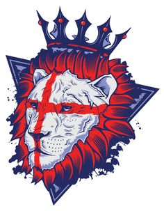 English Lion by Neil Hanvey, via Behance Lion And Lamb, Fantasy Concept Art, Iconic Characters, Lion Tattoo, Cool Artwork, Online Art Gallery, Graphic Illustration, Vector Art, Street Art