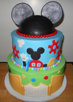 pin up doll themed cakes Mickey Mouse Clubhouse Cake, Mickey And Minnie Cake, Mickey Cakes, Mickey Party, Cupcakes, Cupcake Cakes, Cupcake Ideas, Mickey Mouse Birthday, 2nd Birthday