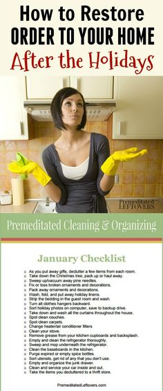 This January Cleaning Checklist will help you clean and organize your home after the holidays. This guide you through cleaning, decluttering, and organizing tasks that will have an impact on your home after the holidays.