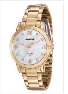 779ff80aba1 23553LPSVDA1 Relógio Feminino Dourado Seculus Analógico - Guest Club