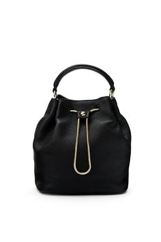 DVF Love Power Leather Drawstring Bucket Bag