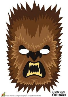 Masque de loup-garou marron pour Halloween