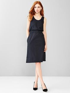 Cinched scoop dress Product Image