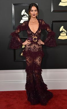 Nicole Trunfio from Grammys 2017 Red Carpet Arrivals  In Zuhair Murad