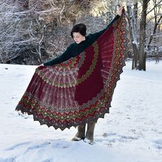 Knitting Patterns Shawl Ravelry: Scivias pattern by Xandy Peters Knitted Shawls, Crochet Shawl, Knit Crochet, Lace Shawls, Lace Scarf, Knit Cowl, Hand Crochet, Shawl Patterns, Knitting Patterns