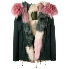 Mr & Mrs Italy fur lining short parka (672985 ALL) ❤ liked on Polyvore featuring outerwear, coats, fur hood parka, parka coat, fur lined parka, long sleeve coat and short parka