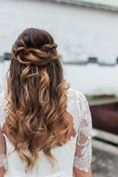 posh styling Bridal Braids, Bridal Hair, Wedding Hair And Makeup, Hair Makeup, Up Styles, Long Hair Styles, Wedding Hairstyles Half Up Half Down, Wedding Hair Inspiration, Bride Look