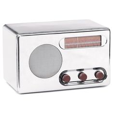 View this item and discover similar for sale at - Circa 1933 chrome streamline radio by designer Raymond Loewy for the RCA company. The radio is fully functioning and in excellent original condition. Ludwig Mies Van Der Rohe, Eileen Gray, Le Corbusier, Raymond Loewy, Radio Design, Colani, Vintage Appliances, Antique Radio, Ex Machina