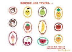 cutest printable fruit stickers