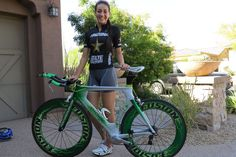 Great shot of Fusion athlete Andrea Arriaga and her Fusion TT bike.