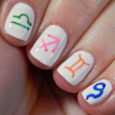 What's Your Sign: Zodiac Nail Art  LOVE IT!!