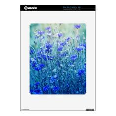 Cornflowers iPad Skin - photography gifts diy custom unique special