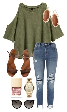 """School"" by abbyharshman8 on Polyvore featuring H&M, River Island, Kendra Scott, Emporio Armani, Michael Kors and Gucci"