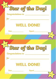 a selection of free printable award certificate templates for kids