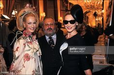 Karen Mulder, Carla Bruni & Gianfranco Ferre for Dior. Haute Couture, S/S 1996 Runway Show in France in January, 1996