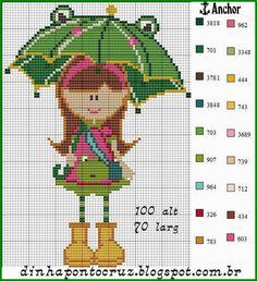Girl pattern by Dinha Ponto Cruz
