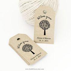 Gift Tag DIY Printable, Text Editable, Wedding Thank You Tag, Favor ...