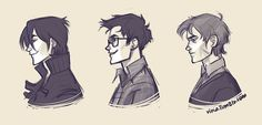 Marauders profiles: Sirius, James, Remus.    no one will ever make me consider Peter as a marauder. and I didn't even want to draw him-_-