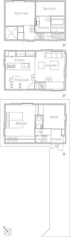 Gallery of House in Futakoshinchi / Tato Architects - 34