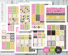 Free Monthly Printable Planner Stickers Set - Damask Love - Erin Condren