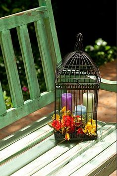 60 decorative cages - ideas and inspiring photos - Diy Fun World Fun World, Bunch Of Flowers, Bird Cages, Hanging Lanterns, Cozy Place, Diy Photo, Shabby Chic Style, Art Decor, Home Decor