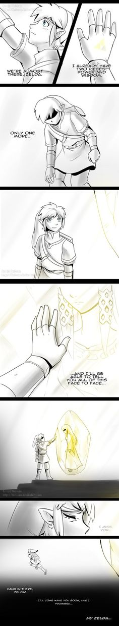 "Skyward Sword - Waiting p.2 - spoilers by *Feri-san  ""You can actually pin-point the part where his heart snaps in two."""