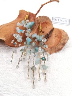BUGS jewellery are handmade with love in my station in Athens, Greece and I personally guarantee the Aquamarine Crystal, Crystal Beads, Crystals, Chandelier Earrings, Drop Earrings, Handmade Chandelier, Copper Paint, Earrings Handmade, Branches