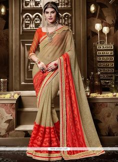 Beckoning Silk Embroidered Work Traditional  Saree Model: YOSAR9111