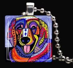 Golden Retriever Pendant Necklace Dog Tag Jewelry Christmas Gift Charm Metal