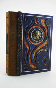 Blue Flame Leather Book by McGovernArts.deviantart.com on @DeviantArt