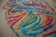 Salt and Glue Watercolor Paintings! - - Pinned by #PediaStaff.  Visit http://ht.ly/63sNt for all our pediatric therapy pins