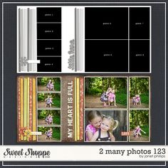 2 Many Photos 123 template by Janet Phillips